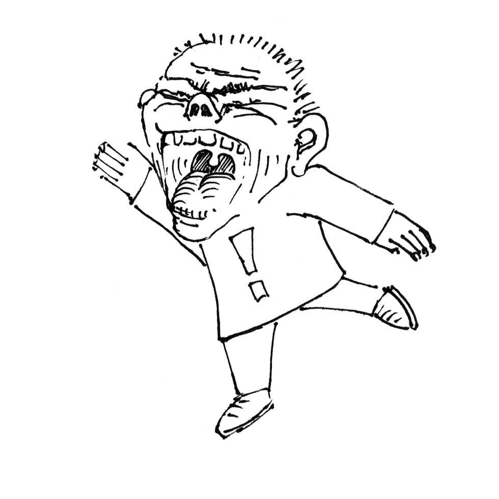 Zeichnung Schreihals